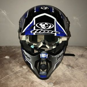 SS Thor Snell M95 XL Helmet & Goggles